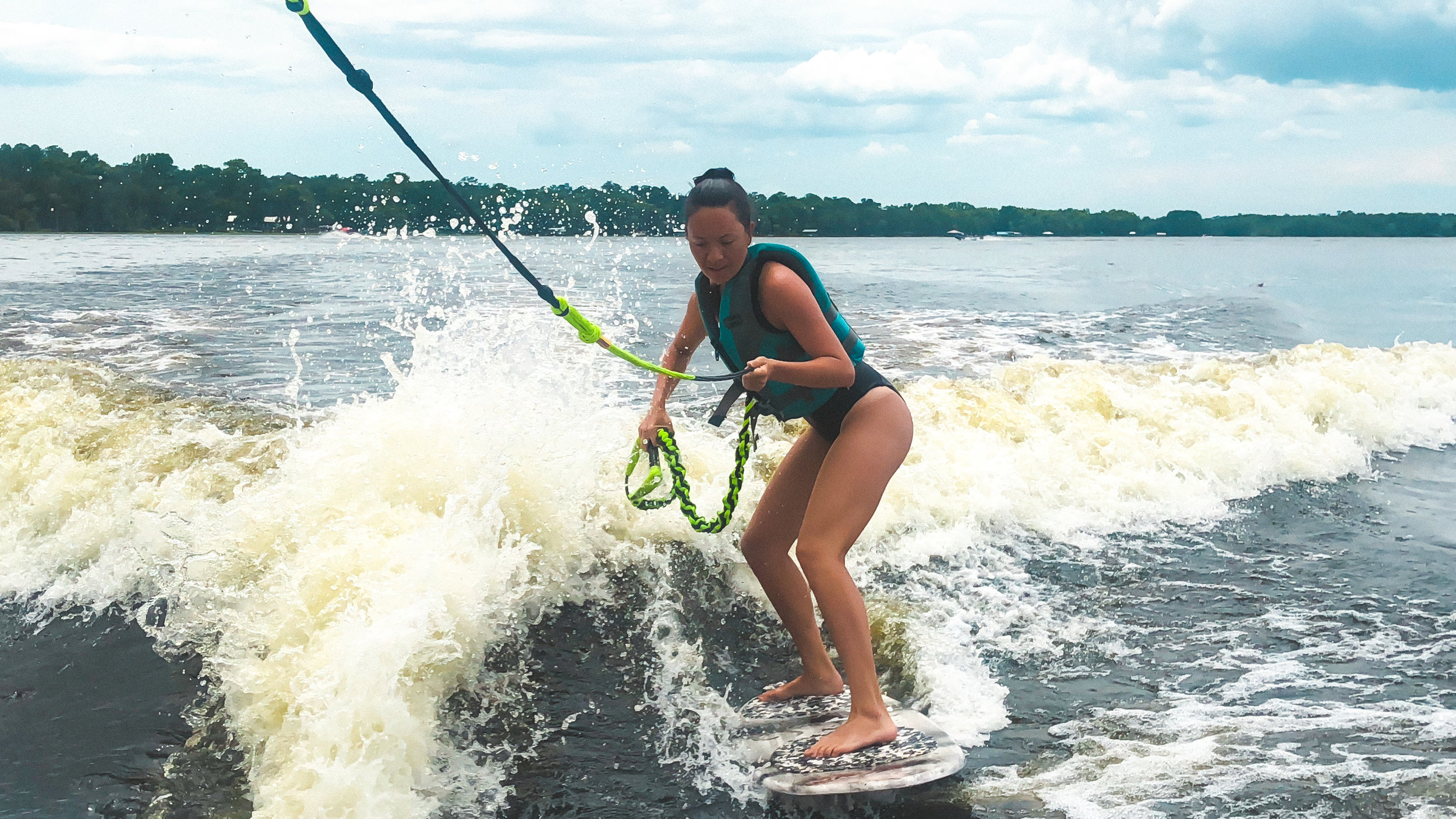 An old friend paid her annual visit to Florida! The weekend after returning from Hawaii - I learned how to wake surf with all the girls while at a family lake house!