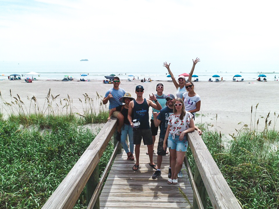 The morning after the storm, we killed some time at the beach before heading back inland to do a delicious cookout with the rest of the family