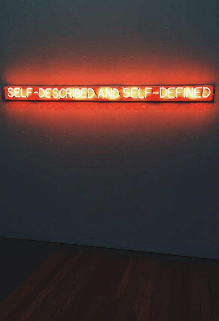 Joseph Kosuth, Self-Described and Self-Defined