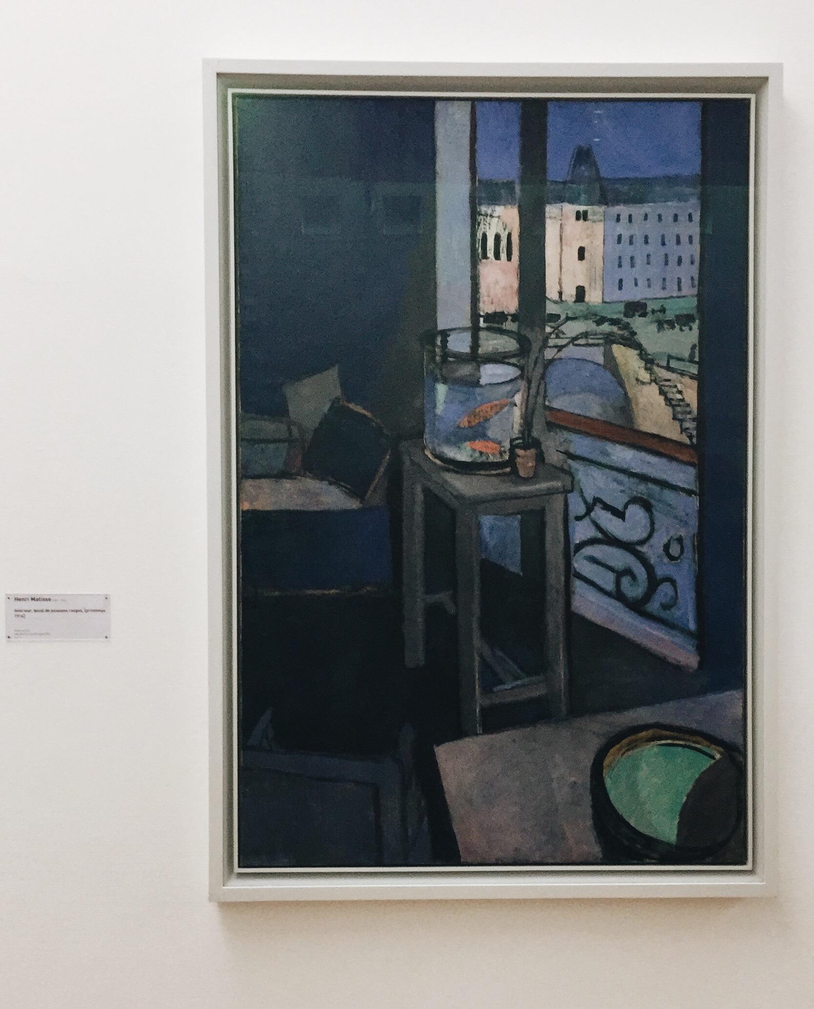 Henri Matisse,  Intérieur, bocal de poissons rouges