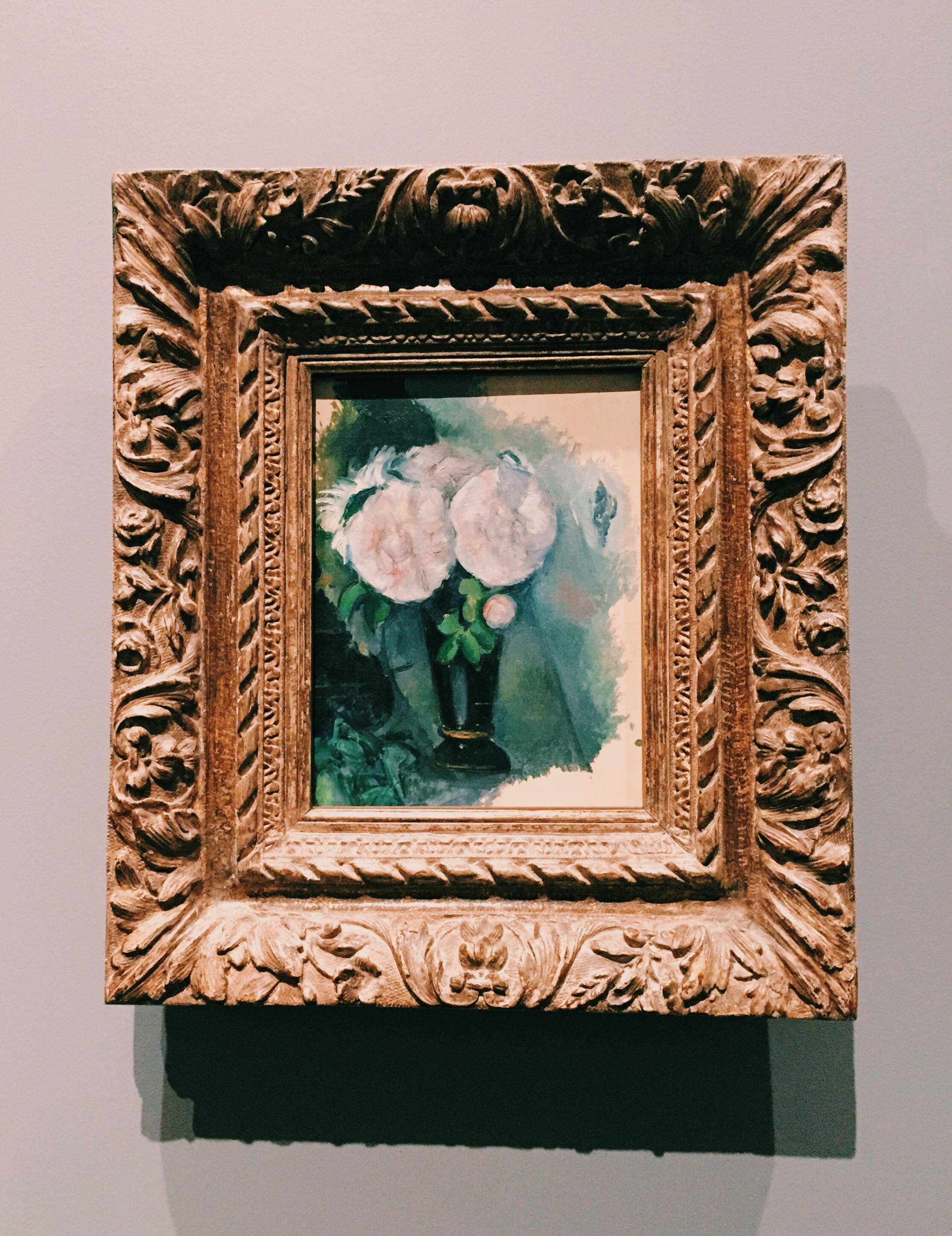 Paul Cézanne,  Fleurs dans un vase bleu