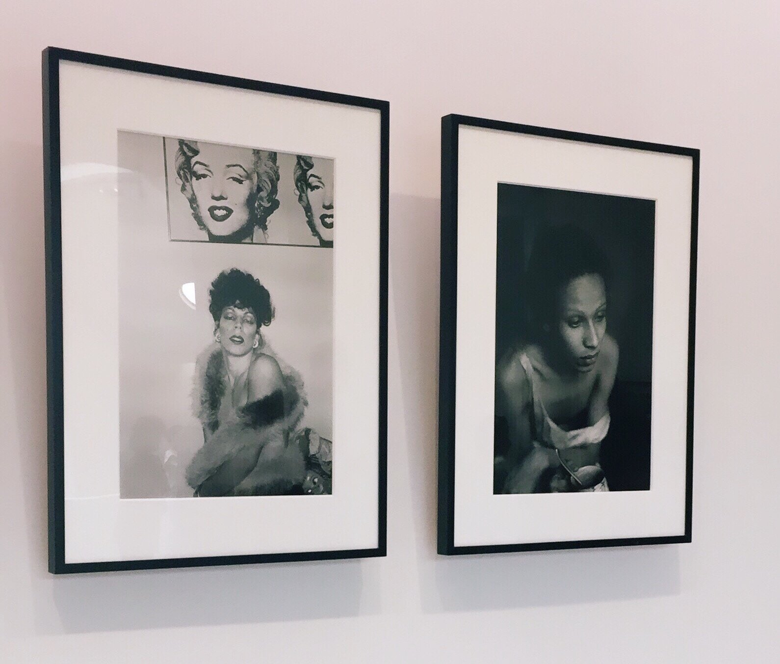 Left to Right: Nan Goldin,  Ivy with Marilyn, Boston .Nan Goldin,  Roommate with Teacup, Boston