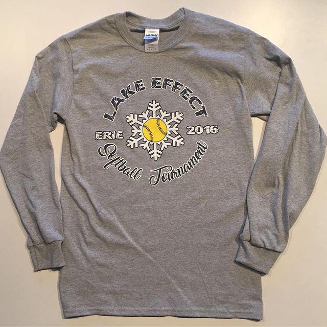 Long Sleeves and Hoodies for Erie Frost's Lake Effect Softball Tournament #EriePA #Screenprint #Softball