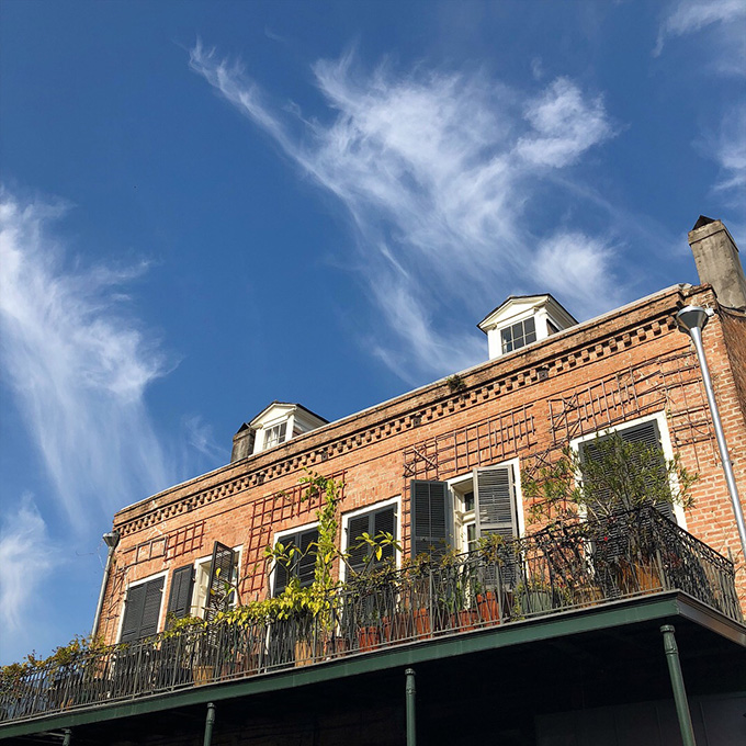 Stroll through the French Quarter and end at the Crepe Cart in the French Market for a snack.