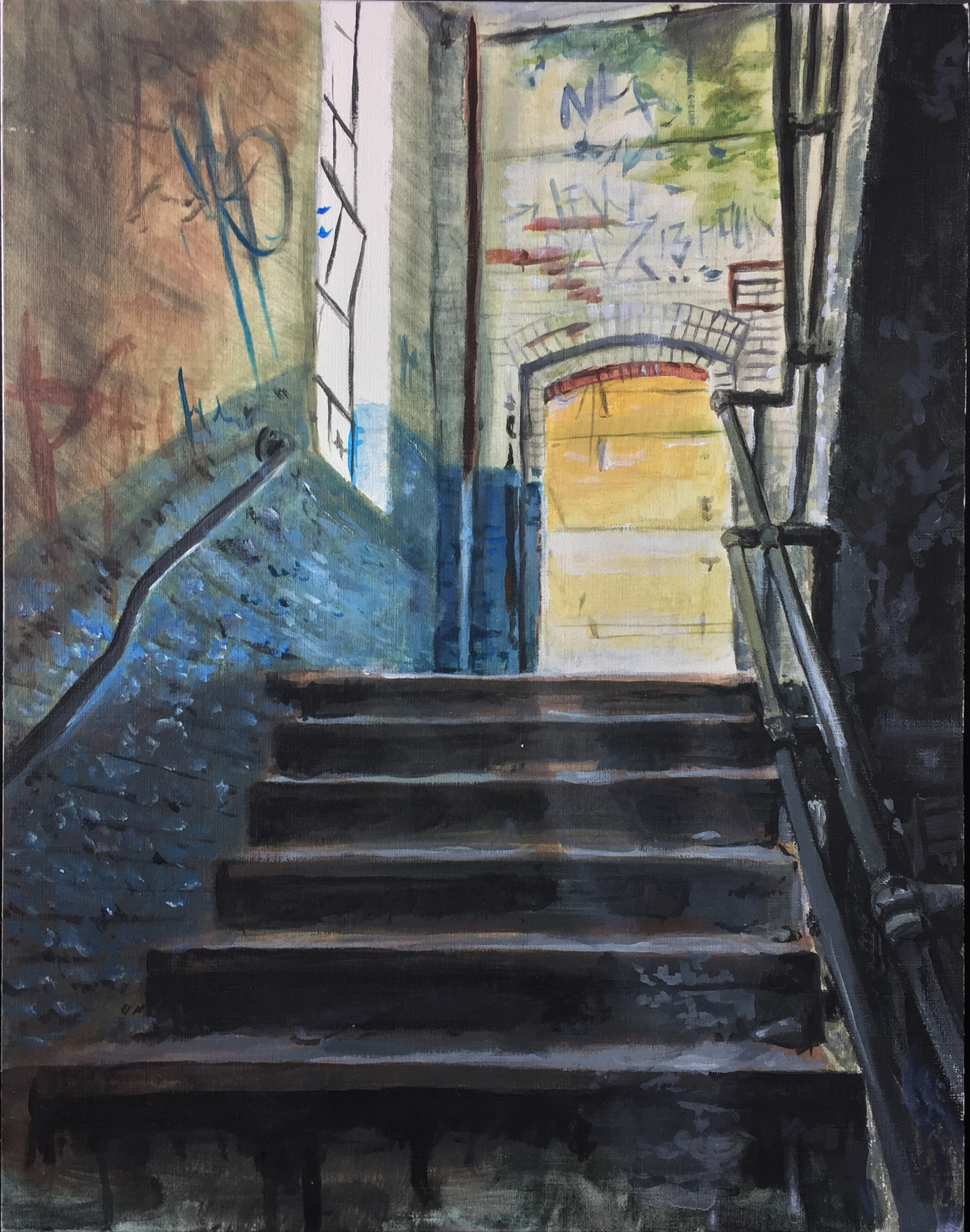 stairway to...  - acrylic on canvas 11
