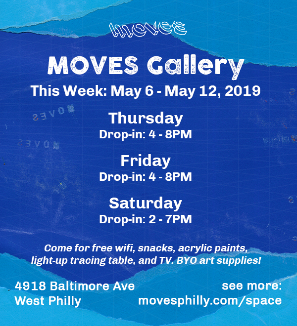 MOVES Gallery Flyer Hours May 6