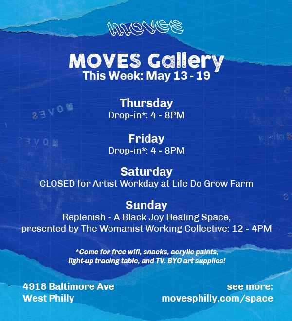 MOVES Gallery Flyer Hours May 13