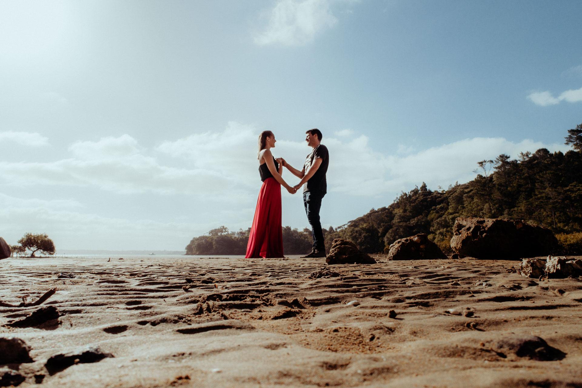 Courtney & James Engagement Shoot - Kauri Bay Domain, Auckland