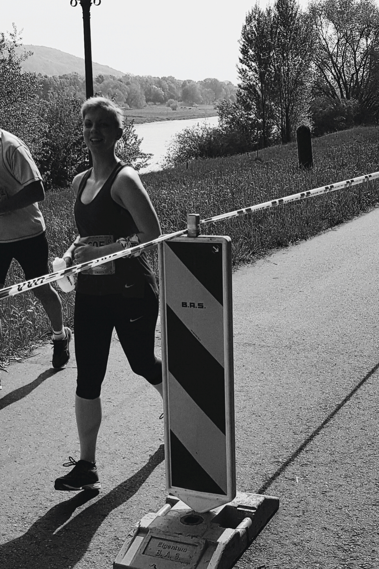 Happier times, at around 9km