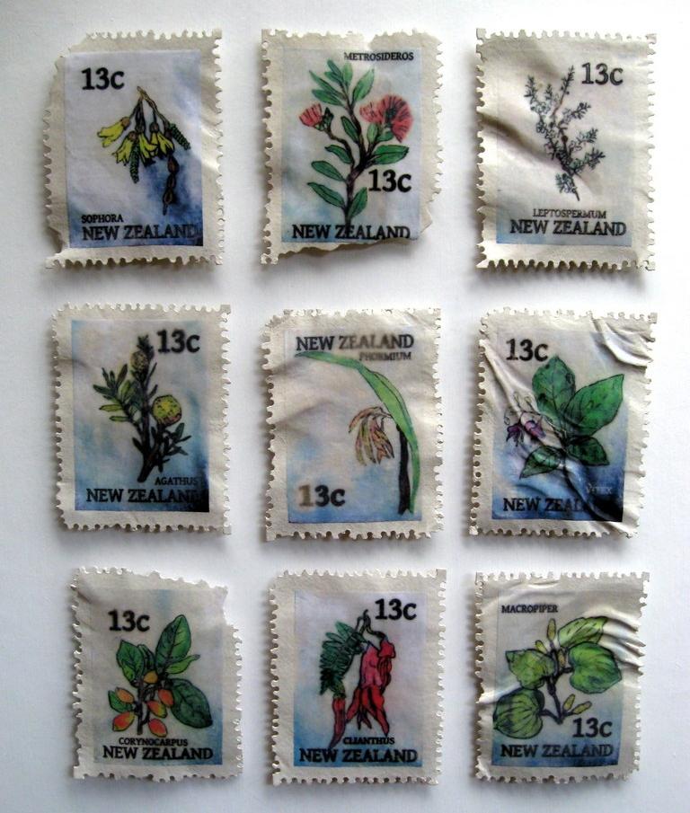 Stamp Sculptures. Set of 9. Liz McAuliffe (2).JPG