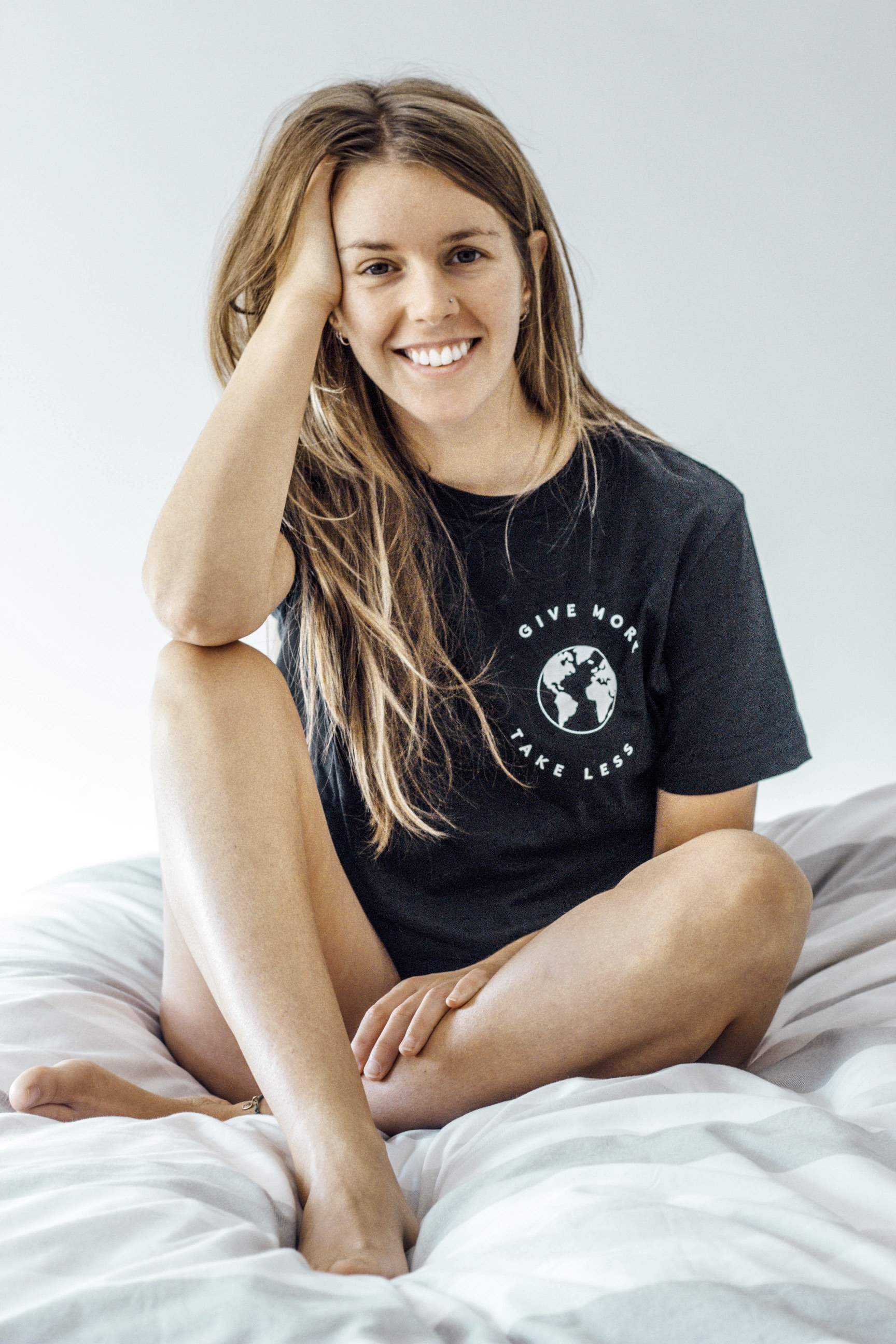 Give More T-Shirt - Part of the brand new Blue Ollis collection.We use certified organic fabrics and renewable energy in our supply chain. Order yours before 3pm for fast delivery.