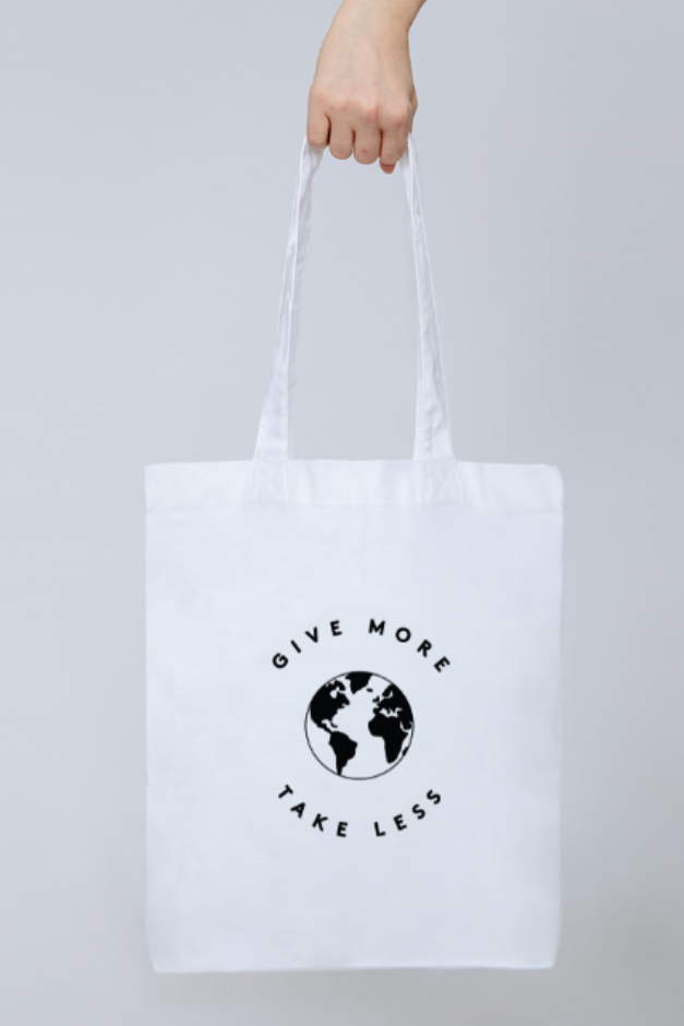 Give More Tote - Part of the brand new Blue Ollis collection.We use certified organic fabrics and renewable energy in our supply chain. Order yours before 3pm for fast delivery.