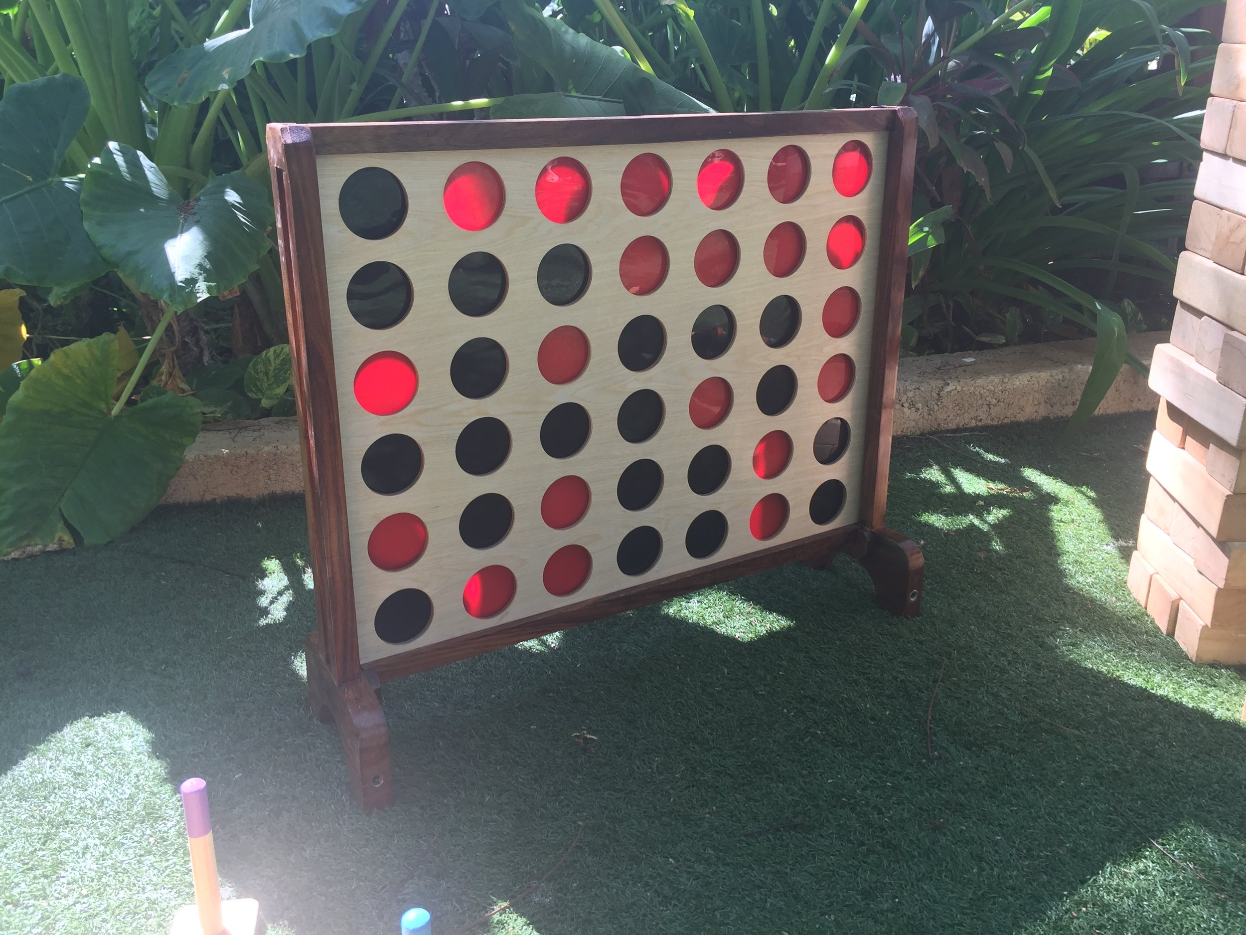 Lawn games - We have a range of lawn games that help bring people together and make for a more memorable occasion. These include stand-up versions of connect four and Jenga as well as more traditional lawn games like croquet.