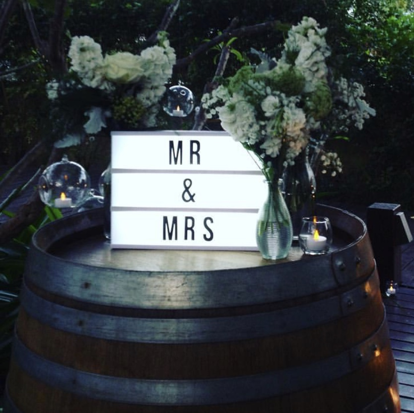 Mr & Mrs light-up box: $10 - please note: text can be changed