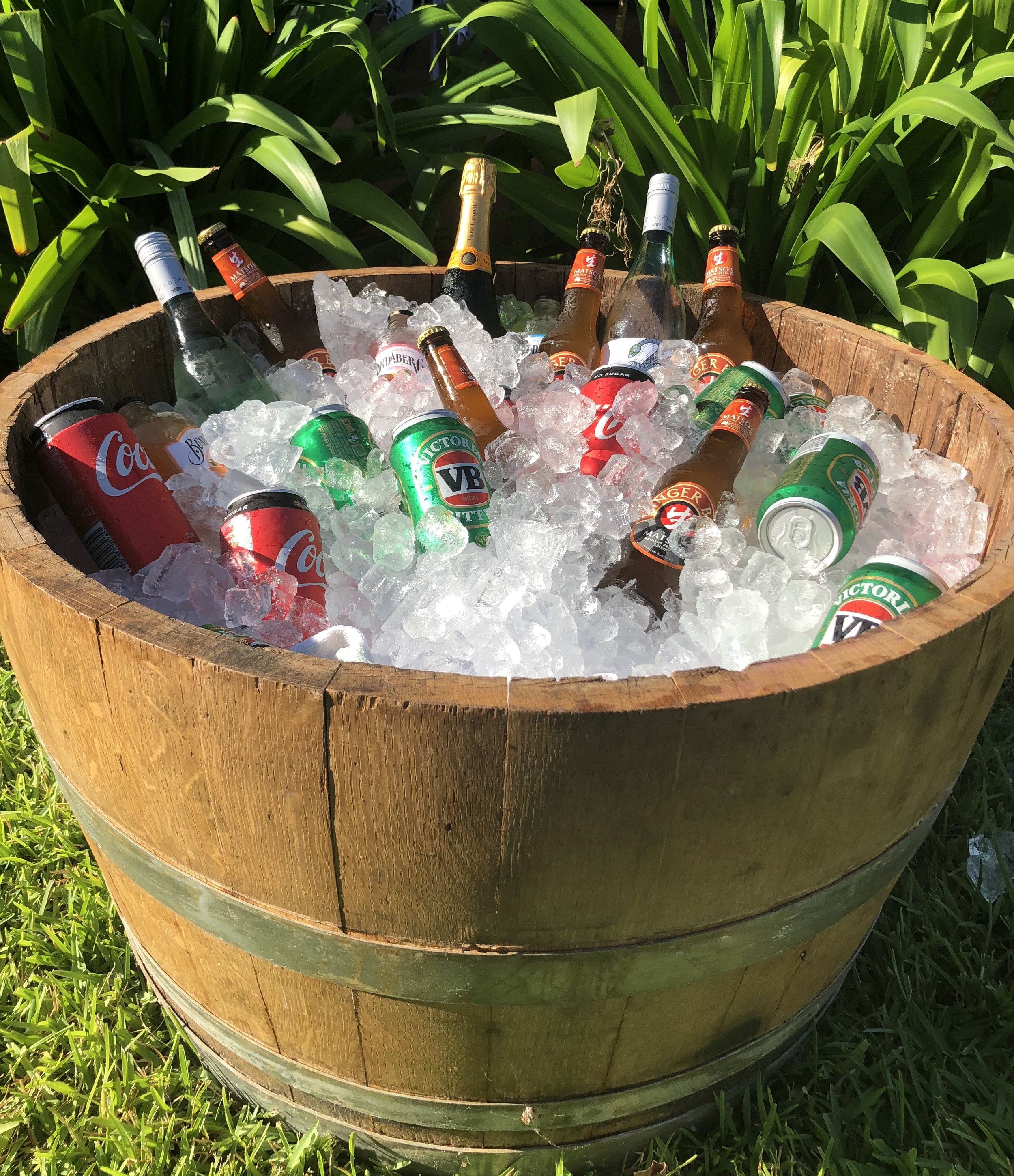 Half Wine barrel esky: $25 -
