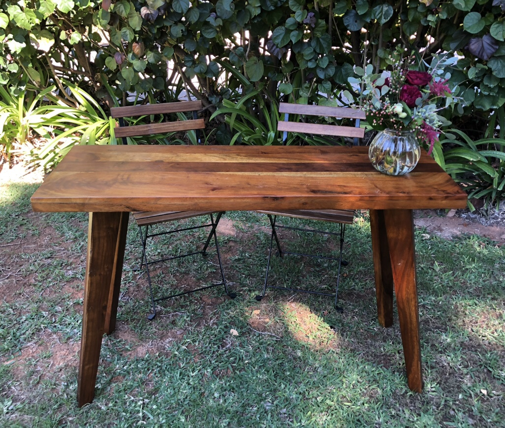 Wooden signing table: $70 - Chairs $6 each