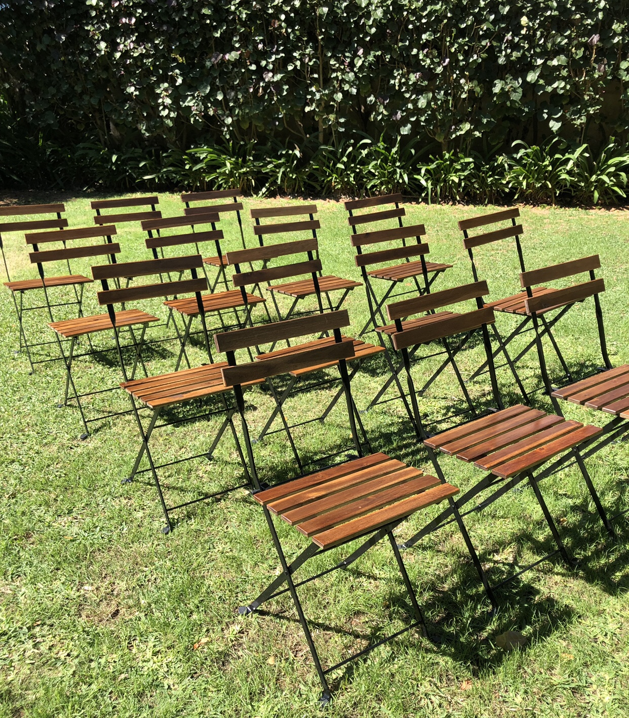 Wooden chairs: $6 each - Perfect for your beach or garden ceremony