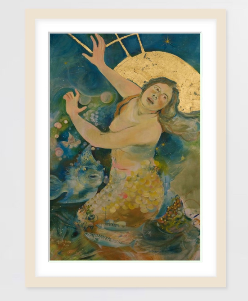 The Mermaid print - Reproductions are available at Saatchi Art on Museum quality 100% cotton fine art papersize 41 x 61 cm for $86, size 61 x 91 cm for $142, size 81 x 122 cm for $224,