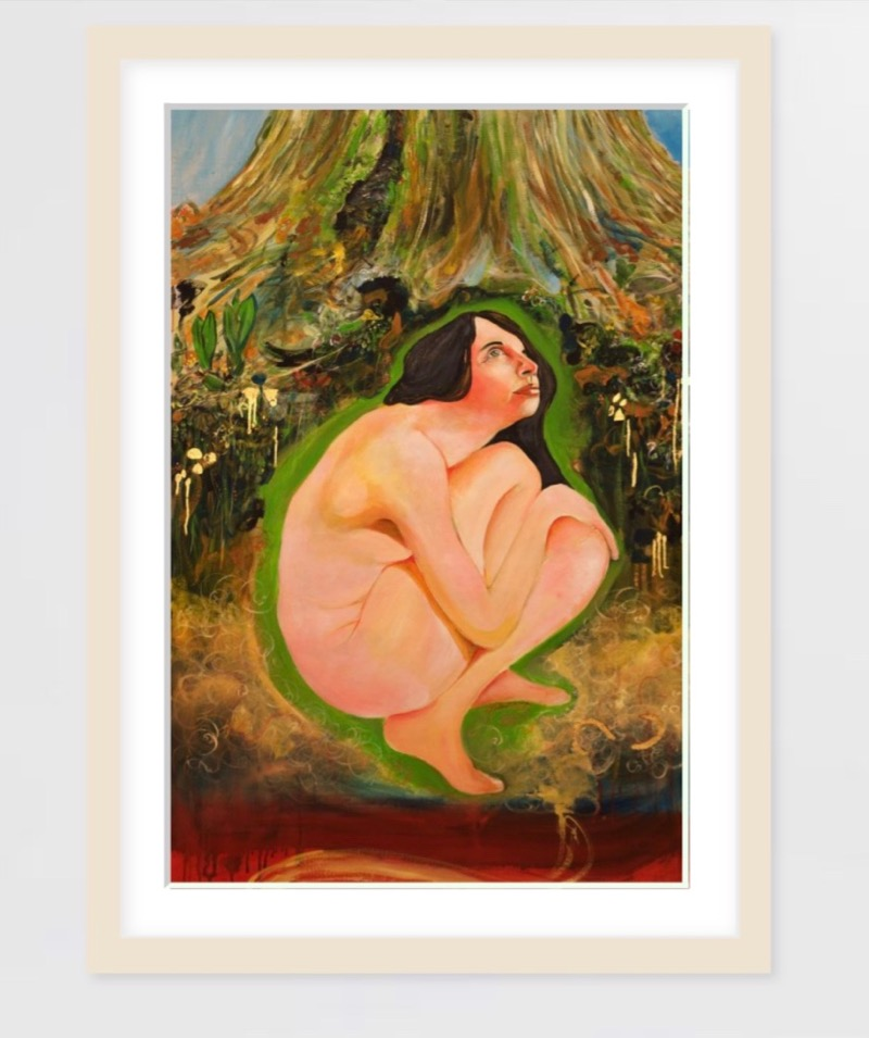 Gaia mother earth print - Reproductions are available at Saatchi Art on Museum quality 100% cotton fine art papersize 41 x 61 cm for $86, size 61 x 91 cm for $142,