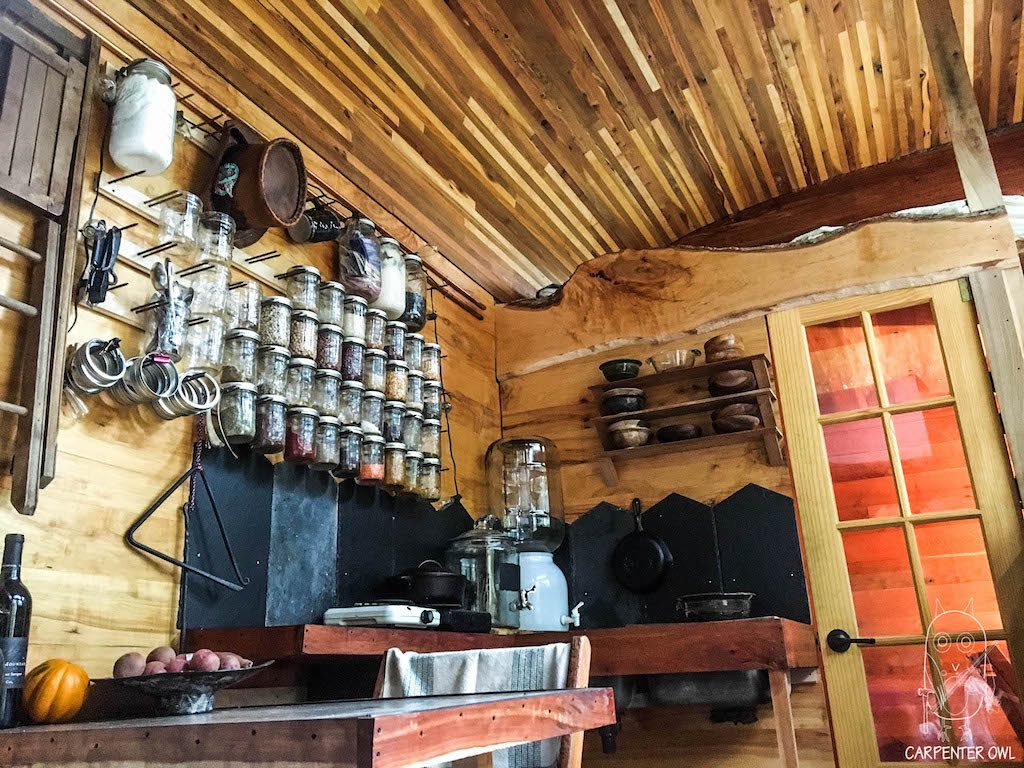 Snails Away: The Fiddlin' Snail Tiny Home - Kitchen Area