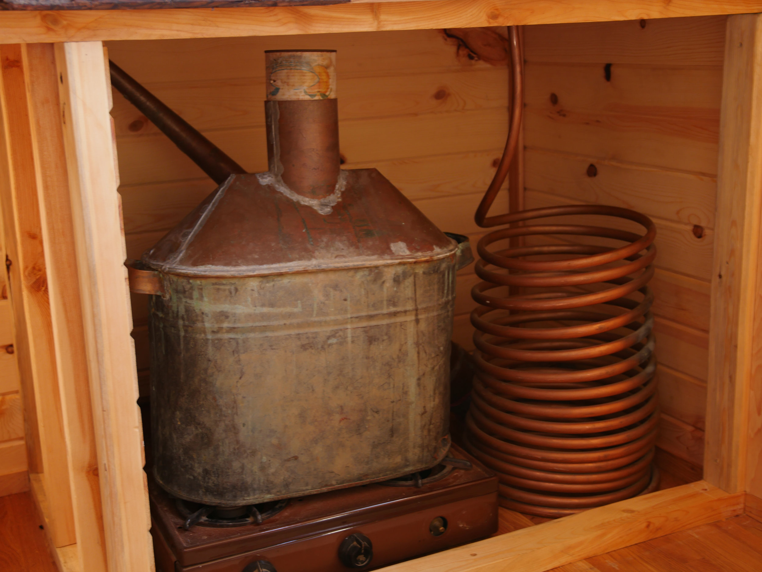 Honey On The Rock - Antique Whiskey Still Storage Space