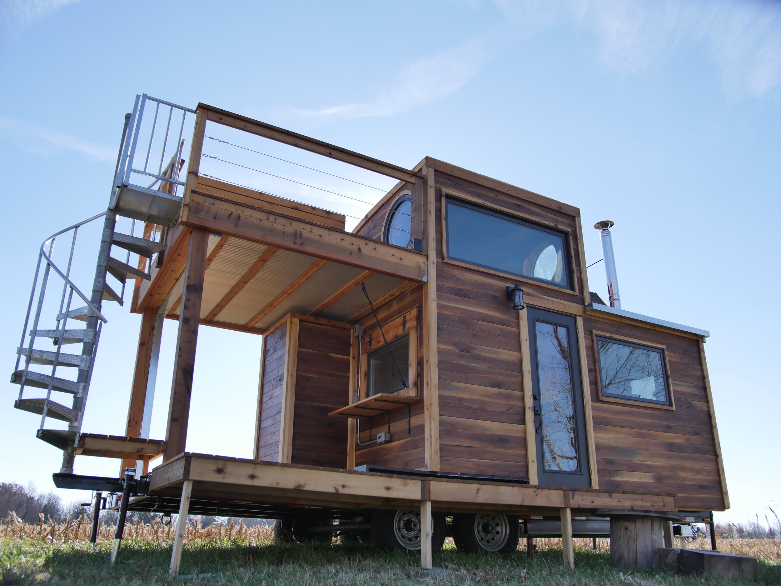 Carpenter Owl Tiny Home - Honey On The Rock - Southern Face