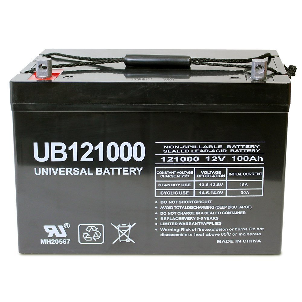 100Ah Deep Cycle AGM battery from Universal Battery