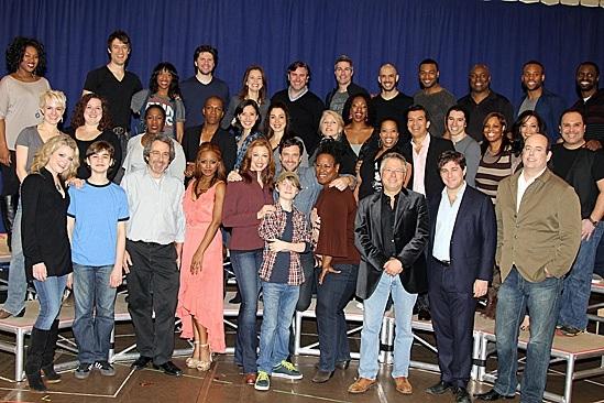 The cast and creative team of LEAP OF FAITH
