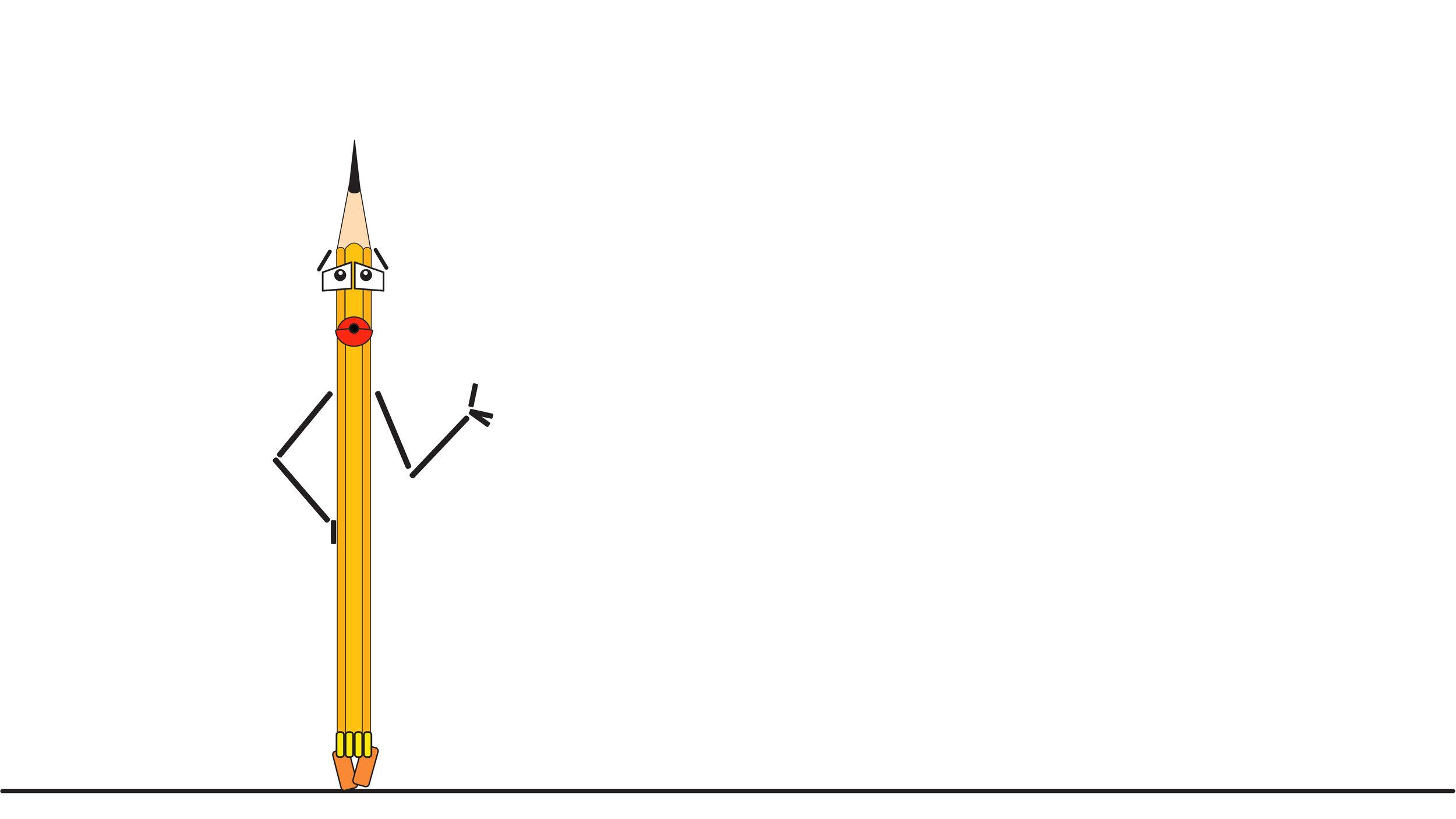 Je suis crayou, - un habitué de l'écriture, du dessin, des gribouillis. Depuis toujours, je suis l'ami des écrivains (donc de toi Spinoza), des dessinateurs, des architectes, des ingénieurs, des mathématiciens, des enfants aussi. Je suis un habitué des pages blanches, des moments de réflexion, des incertitudes. Je fréquente les agendas, les carnets, les petits bouts de papier… et je m'installe sagement dans la pochette de votre chemise, dans votre sac à main ou votre sac à dos. Je suis un ancêtre, et peut-être même un sage (sans vouloir te porter ombrage cher Spinoza). J'étais là bien avant les téléphones intelligents et les tablettes électroniques. J'étais là alors que vous gribouilliez vos premiers dessins. C'est avec moi que vous avez appris à écrire. C'est encore moi que vous mordilliez nerveusement, à la recherche du mot juste, de la ligne parfaite, du bon chiffre, lors d'un examen, de la rédaction de votre composition, ou lorsque vous écriviez votre première lettre d'amour. Je suis un ami. Je vous accompagne partout où vous allez. Je sais me faire petit. Je connais vos peurs, vos victoires, vos doutes. Je connais aussi vos travers, vos forces et vos faiblesses. Les plus grands maîtres ont eu recours à moi pour leurs esquisses. Car tout naît d'une idée et la meilleure façon de l'exprimer demeure le dessin. Il suffit de quelques lignes pour exprimer ce qui, quelques secondes plus tôt, n'était qu'une intuition. Le fait de voir apparaître les traits sur le papier permet au concept de prendre forme, presque par magie. Je peux prendre plusieurs formes : je suis un crayon à mine, une plume, un stylo. Mais c'est sous la forme la plus simple — le crayon à mine — que je suis le plus sympathique. Je ne tombe jamais en panne. Je n'ai pas besoin d'être rechargé : tout au plus, avez-vous besoin d'un aiguise-crayon à proximité. Il suffit de me tailler. Je suis léger. Je ne coûte pas cher. Je ne suis pas frappé d'obsolescence et je ne crois pas qu'on me mette un jour définiti