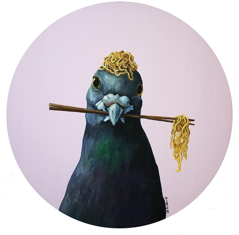 Pigeon with a Ramen Nest II