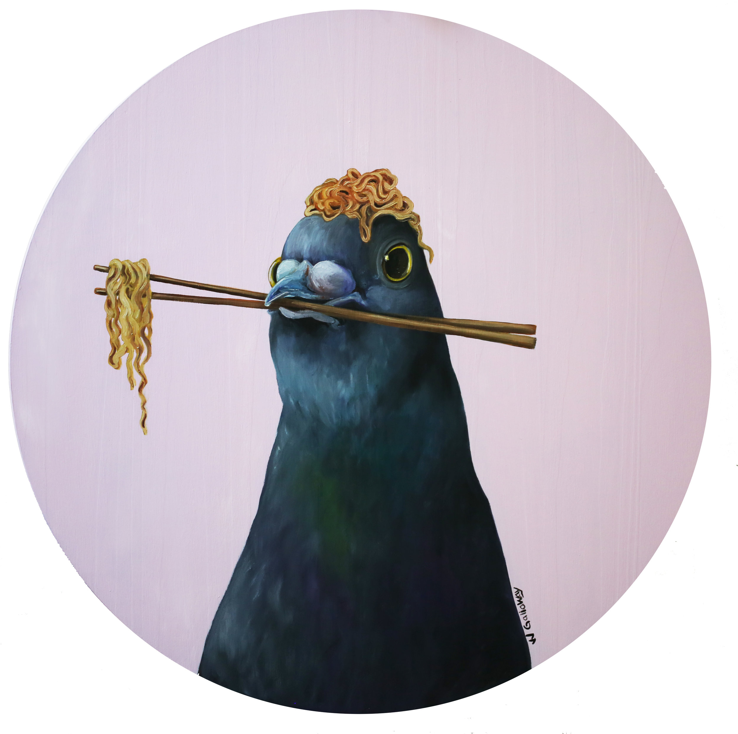 Pigeon with a Ramen Nest III