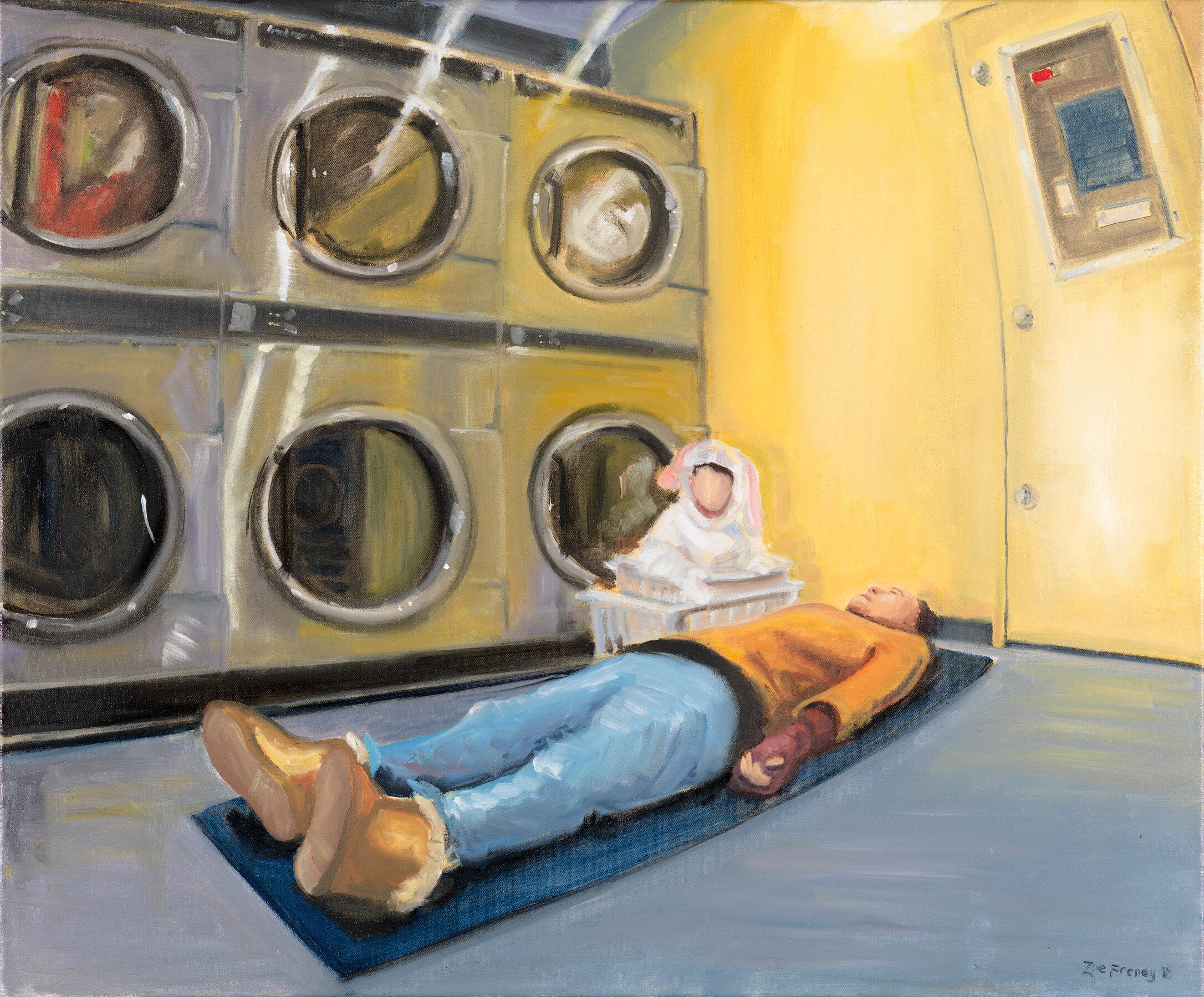'Gentle Hum' oil on canvas, 2018.