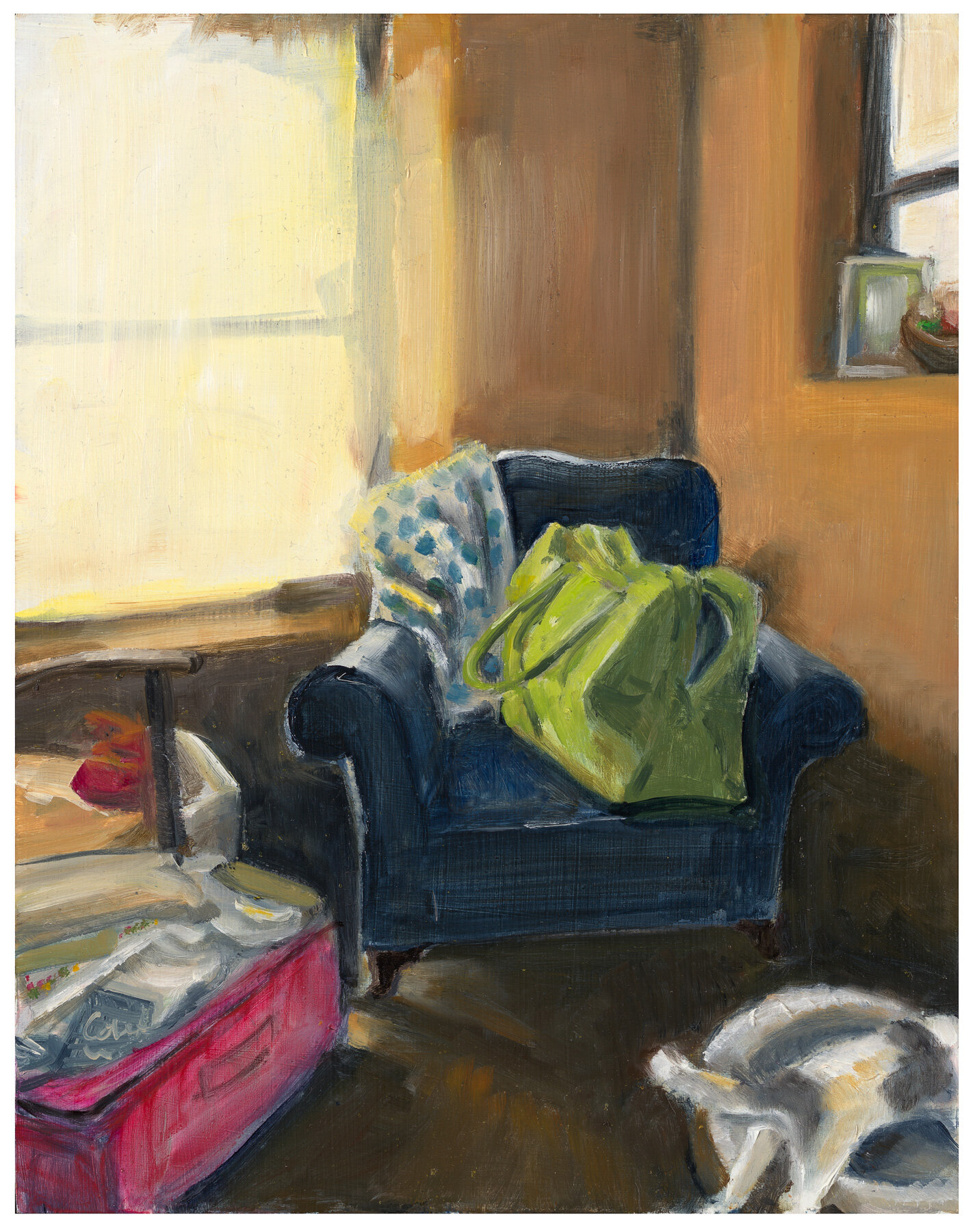 'Corner of the room' oil on canvas 2018.