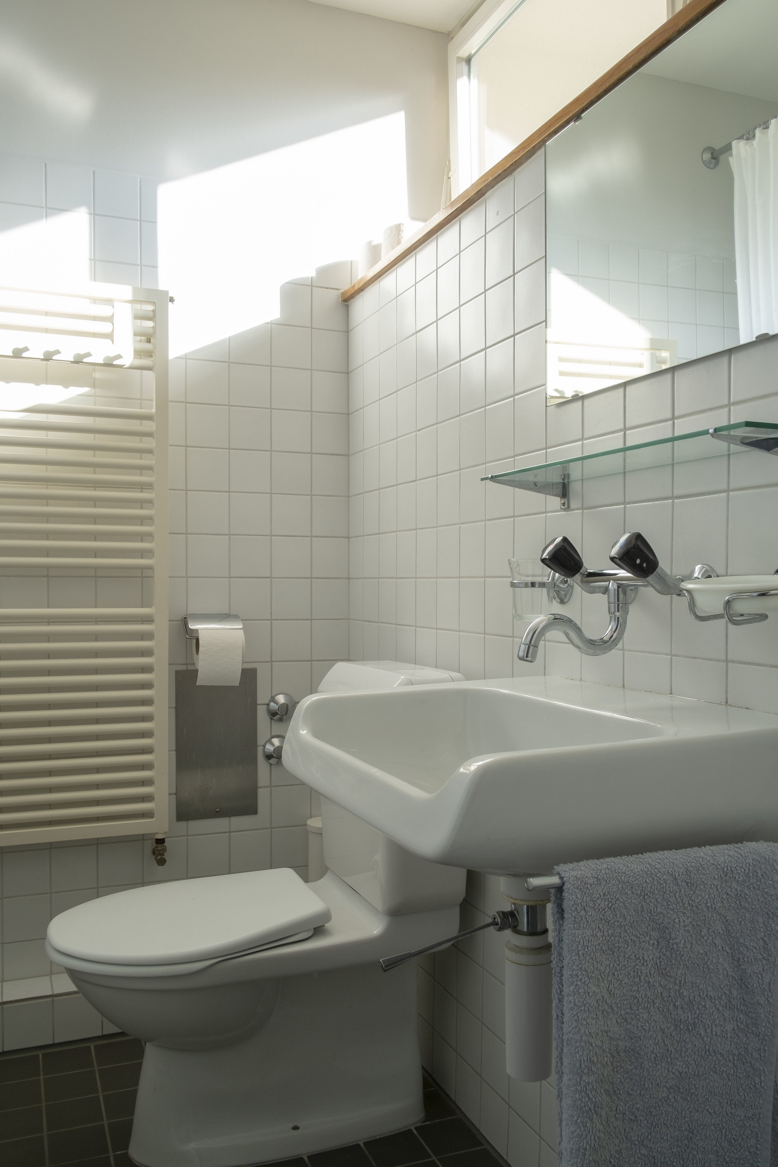 The bathroom renovated in the 1980s