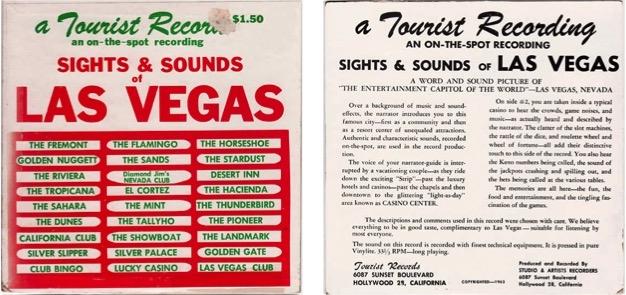 Sights & Sounds of Las Vegas , Tourist Records (1963).