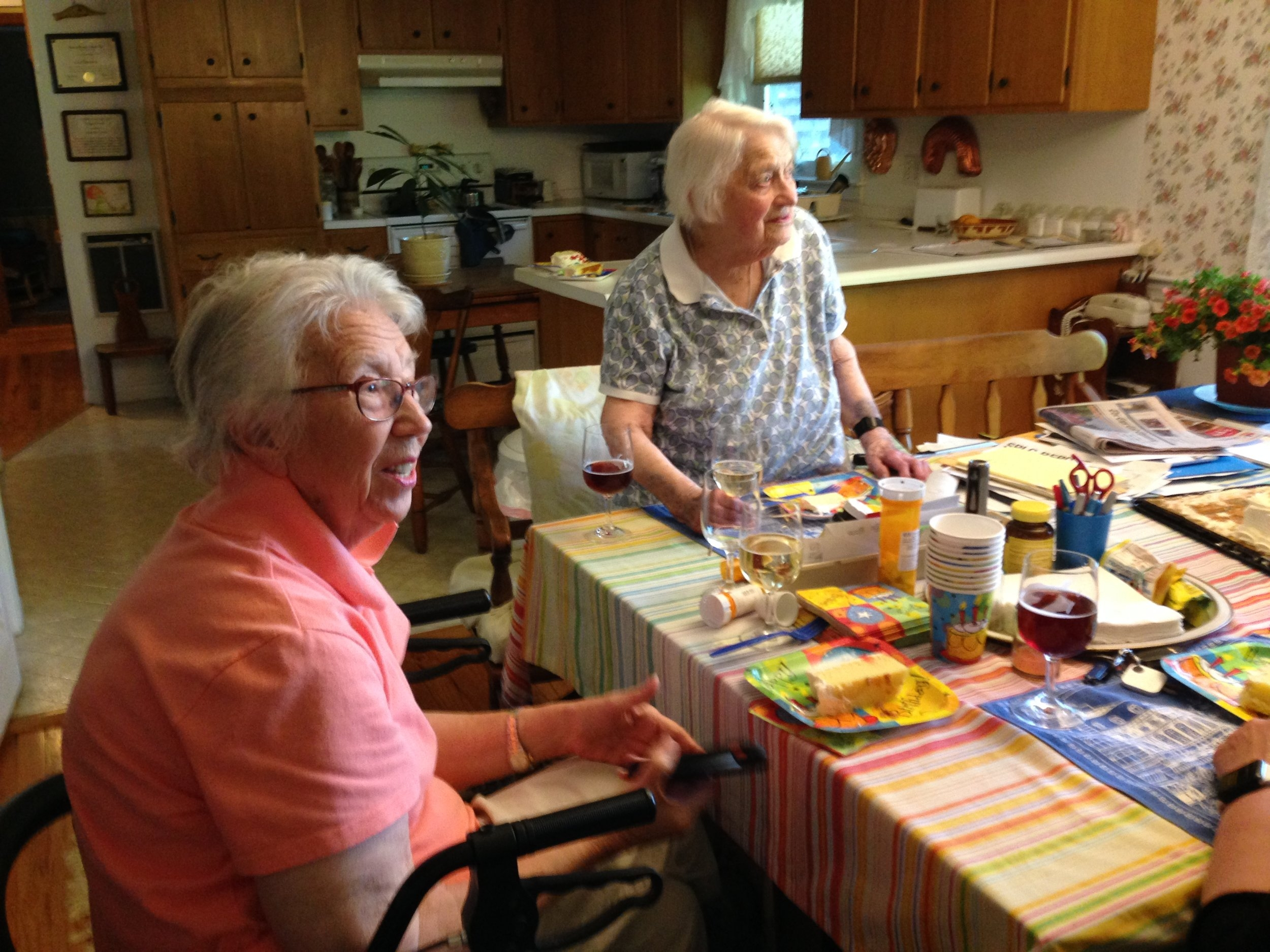 My cousin at 105 on the right