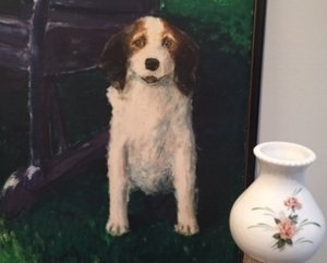 This portrait of Major and the lamp help to document life on the farm where Anna raised her family