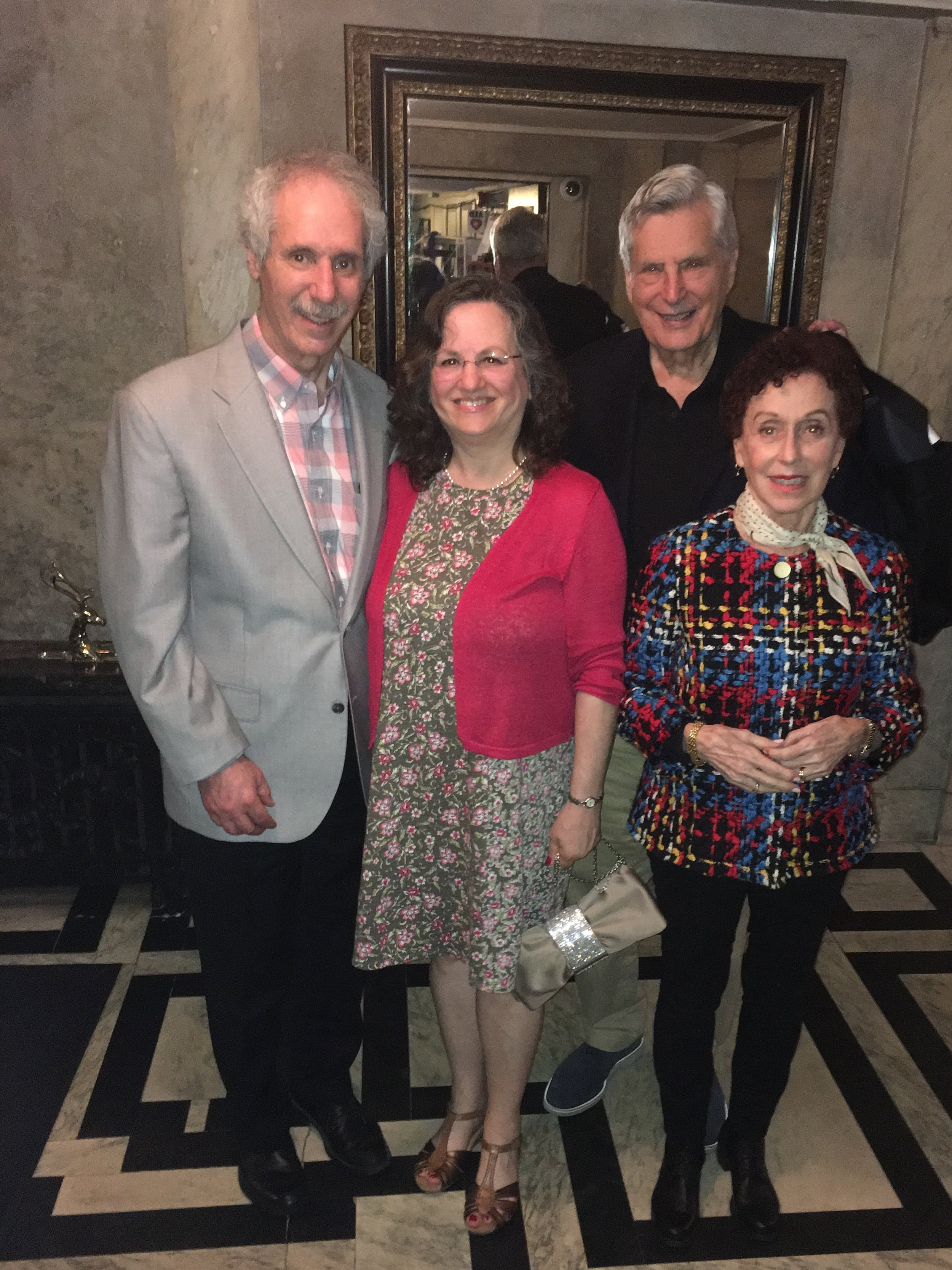 Arnee and Sharon with Alan and Sandy Siegel at the National Arts Club on May 17, 2018-our last get- together