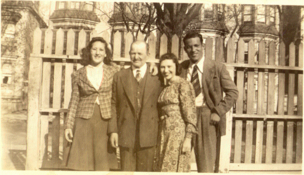 Papa Harry with his younger children: Bea, Ida (my mother) and Sam Circa 1940