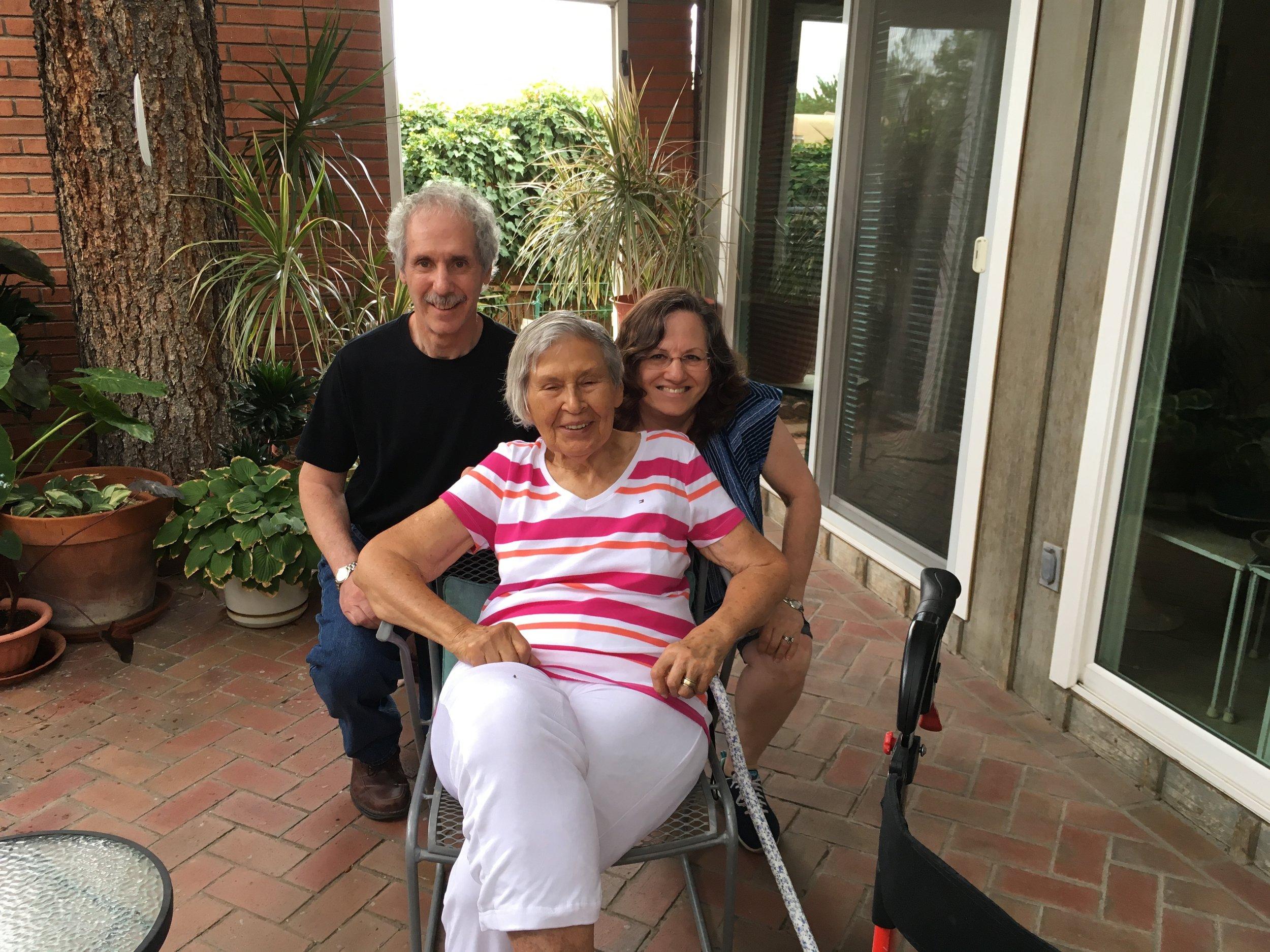 Arnee Cohen, Zelda Danziger and me August 2016 Albuquerque, NM