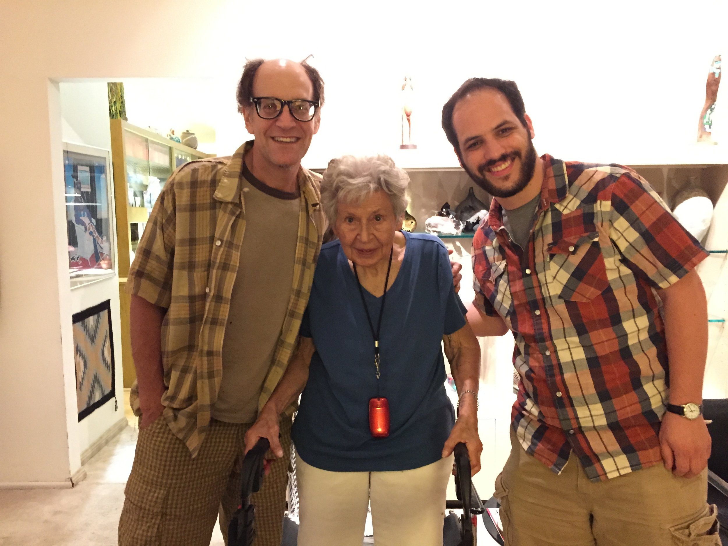 Lee Danziger, his mother Zelda and our son Judd Cohen August 2015 Albuquerque, NM