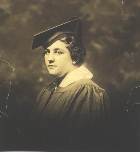 Aunt Fannie Mark East Side High School Graduation 1935 Newark, New Jersey