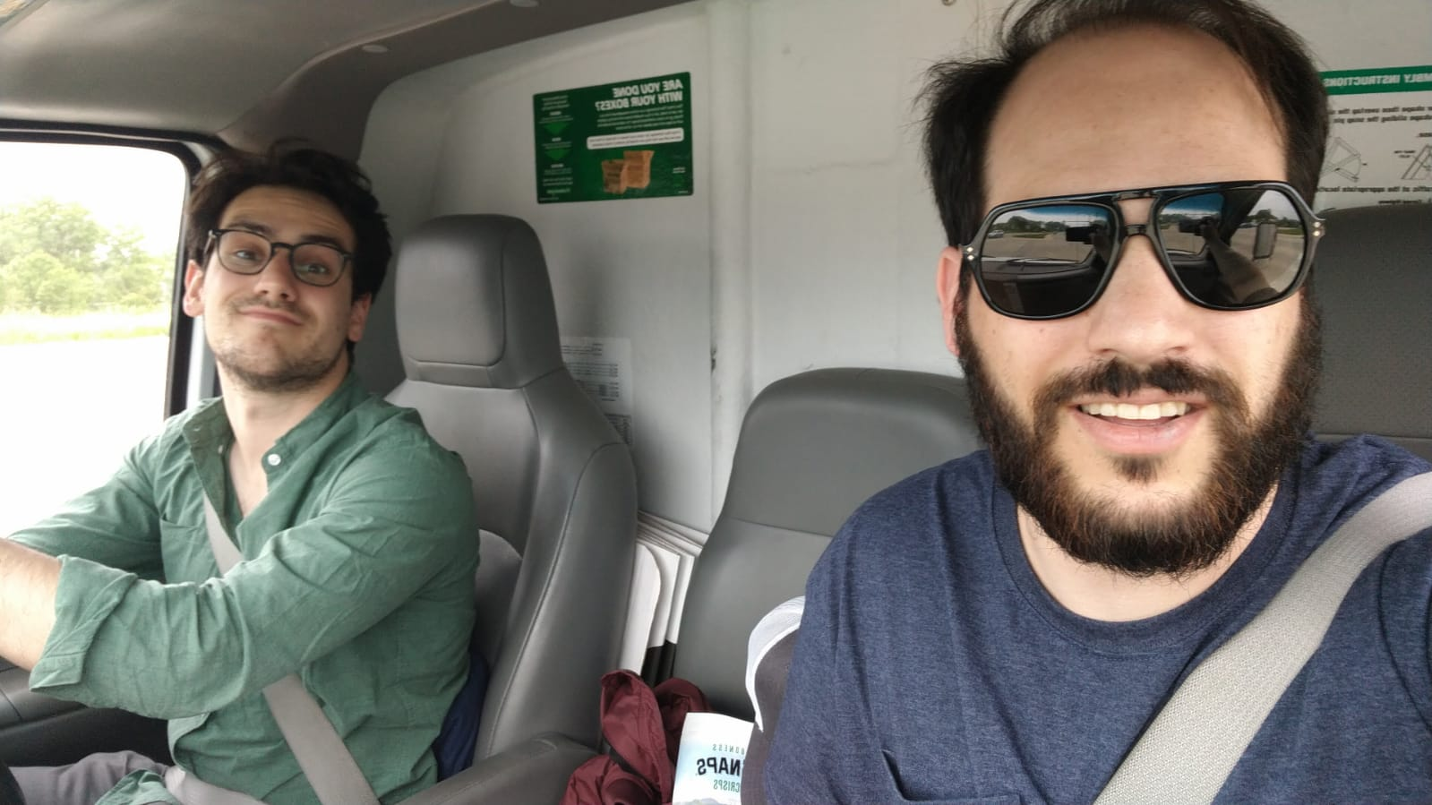 Moss and Judd June 3, 2019 Driving the U-Haul cross country from Portland, OR