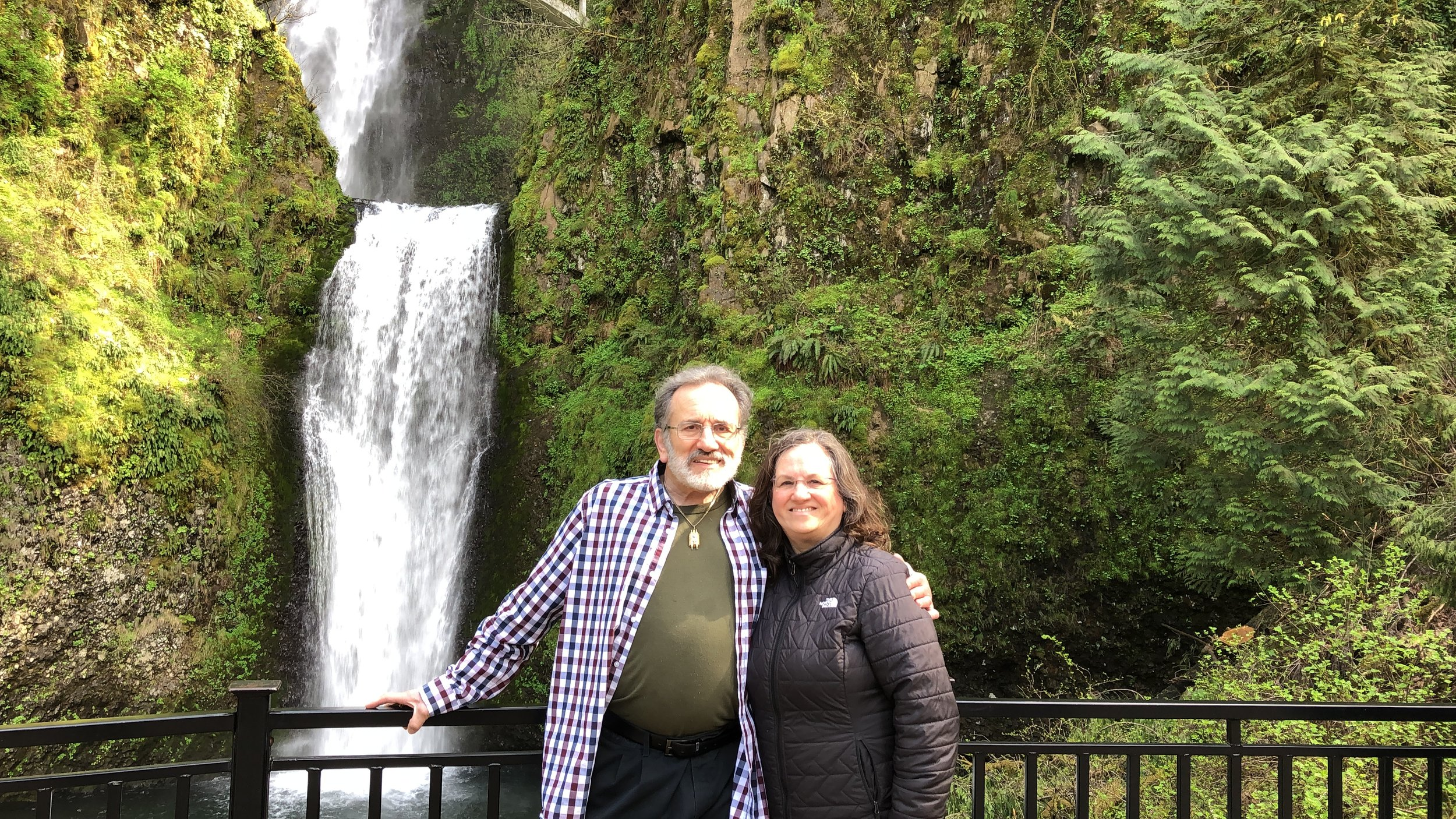 Al Mark and Sharon Mark Cohen Multnomah Falls, Oregon April 2019
