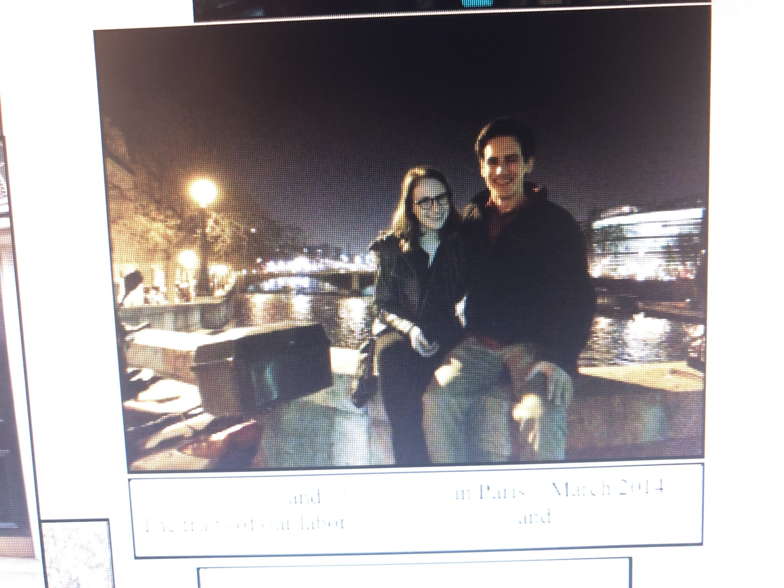 Cousins Sarah Danziger and Moss Cohen in Paris March 2014