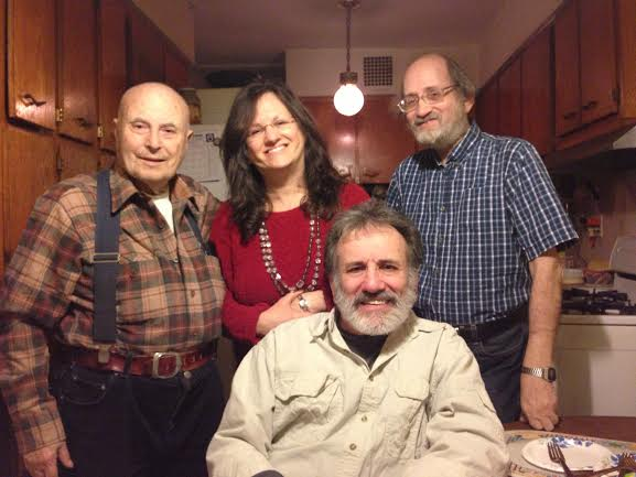 March 2013 Lou with me and two of my three older brothers, Stu and Al (seated)