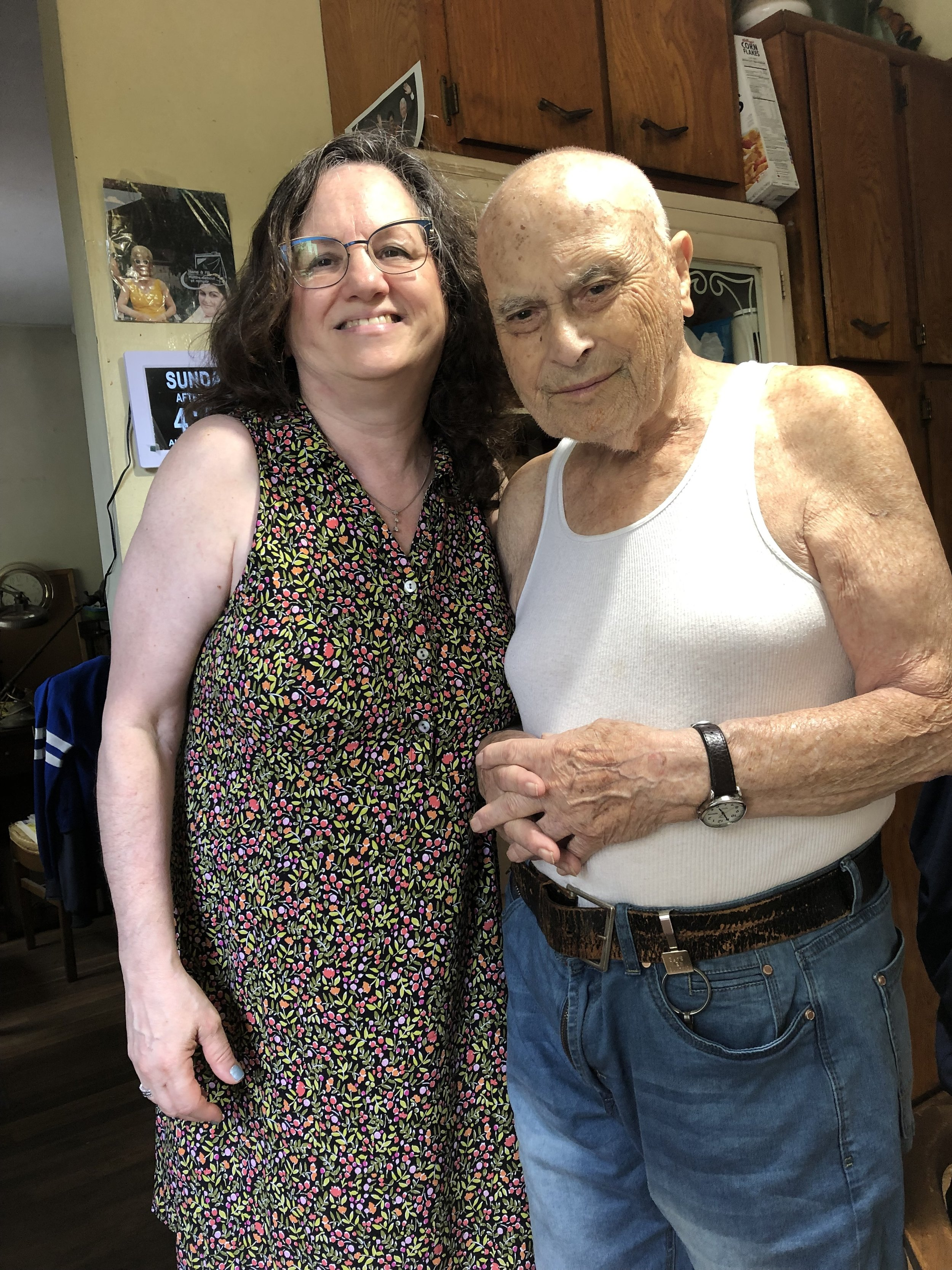 Sharon Cohen and Lou Weber (97) Brooklyn, New York August 18, 2019