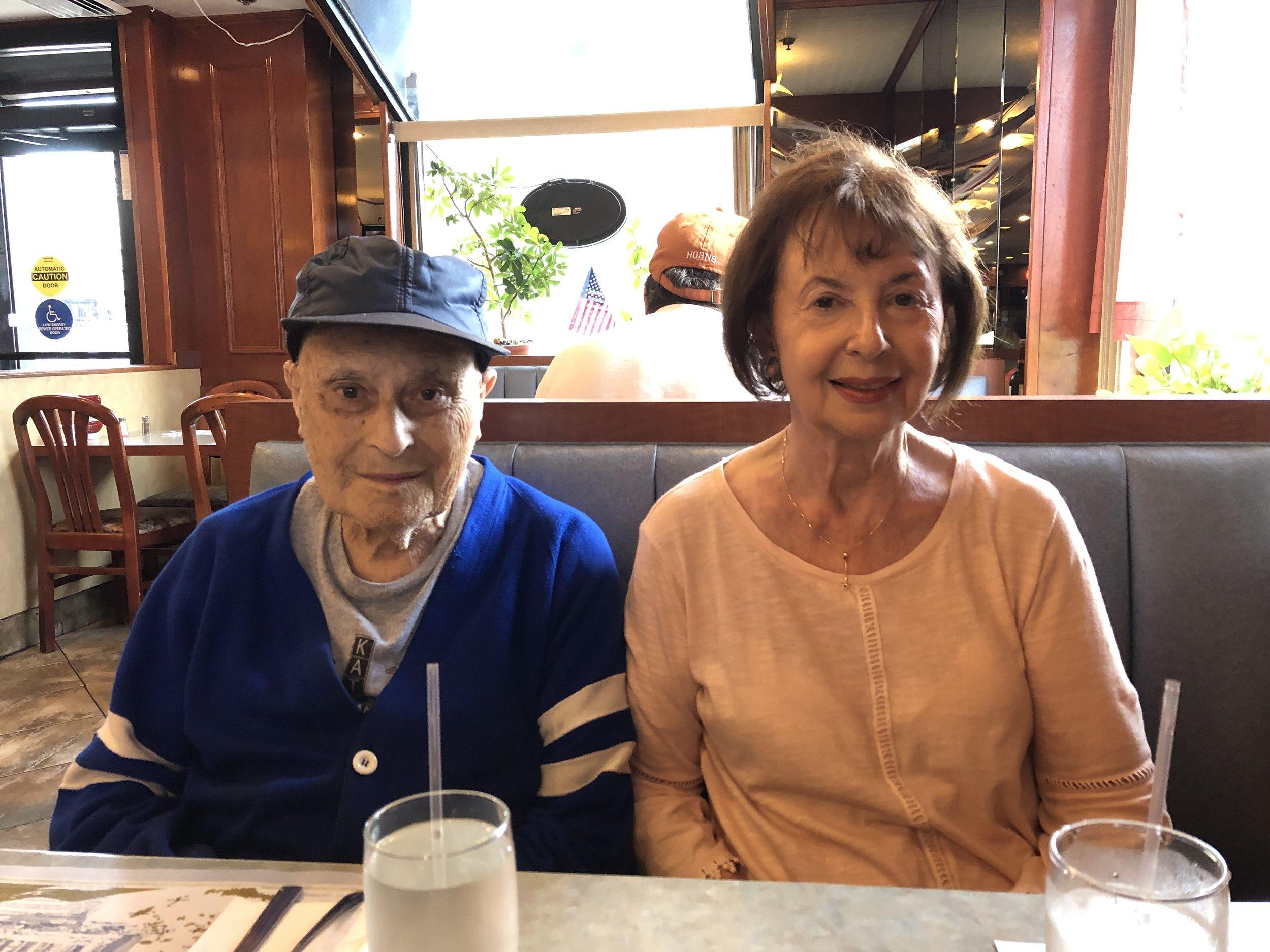 Lou Weber and his sister Rose Brooklyn, N.Y. August 18, 2019