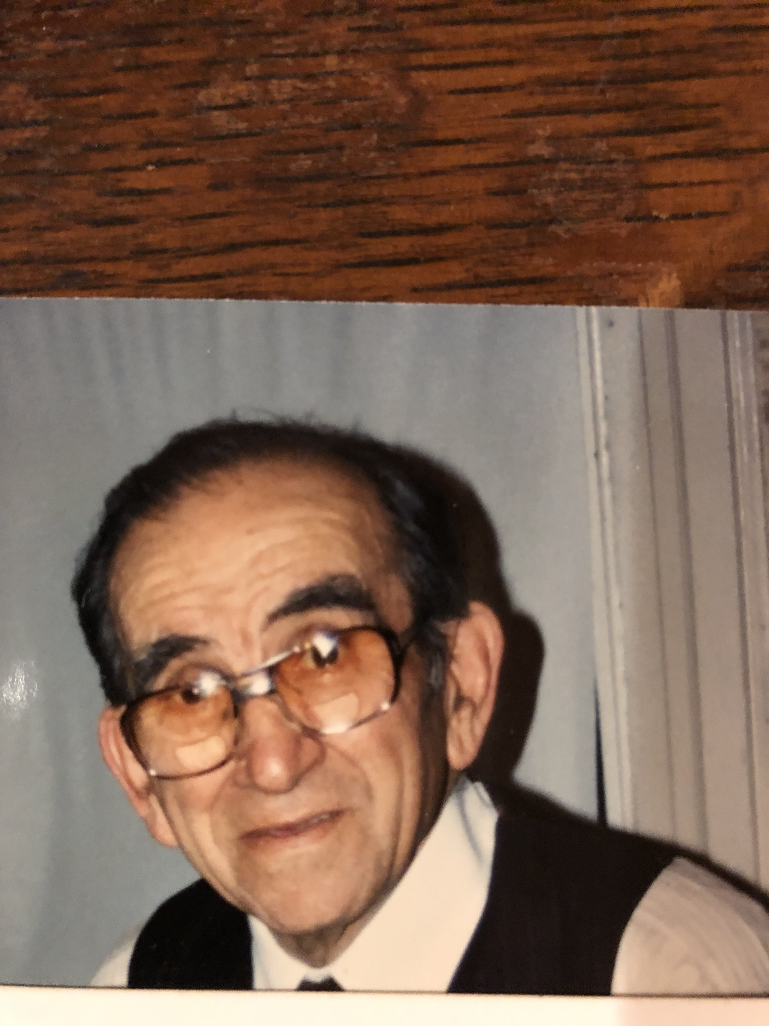 My father, Benjamin Mark, February 1991 (age 80). He passed away on August 26, 1997.