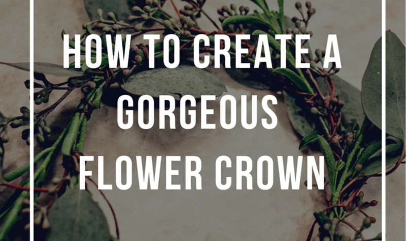 Flower crowns might seem intimidating to DIY, and as a Flower Pro, I usually wouldn't recommend it. When blooms are involved it's pretty important to know how to handle them properly and to choose varieties that are hearty enough to withstand a day or so without water. However, don't be afraid to try this simple greenery crown, it looks earthy and naturally beautiful.    Here's what you need:  Thin wire headband Roll of floral tape Thin gauge floral wire A few branches of hearty foliage ( any eucalyptus or olive branch variety works perfectly)